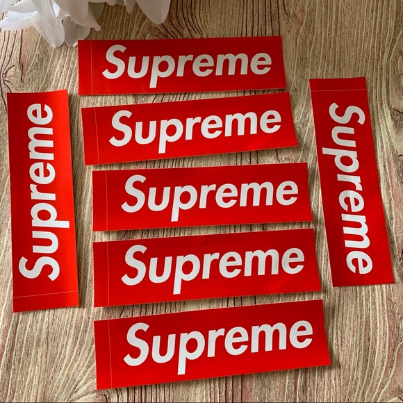 8pc lot Authentic Original Supreme FLAWED Stickers